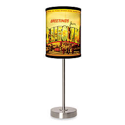 California Table Lamp with Brushed Nickel Base