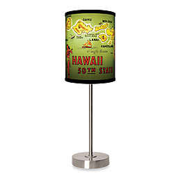 Hawaii Table Lamp with Brushed Nickel Base