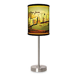 New York City Table Lamp with Brushed Nickel Base