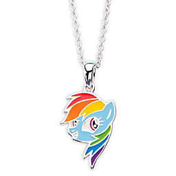 Hasbro® My Little Pony Silver-Plated Rainbow Dash Children's Pendant Necklace