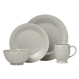 Lenox® French Perle Groove Dinnerware Collection in Grey