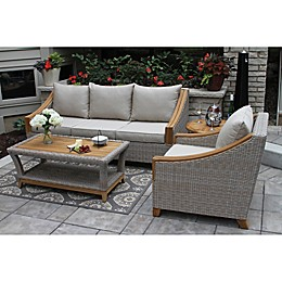 Outdoor Interiors® Teak & Wicker Outdoor Furniture Collection
