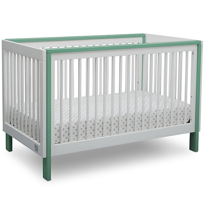 Alternate image 1 for Serta® Fremont 3-in-1 Convertible Crib in White/Aqua