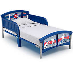 Delta Children MLB Chicago Cubs Plastic Toddler Bed in Blue