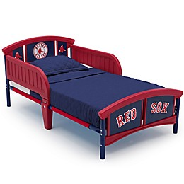 Delta Children MLB Boston Red Sox Plastic Toddler Bed in Red