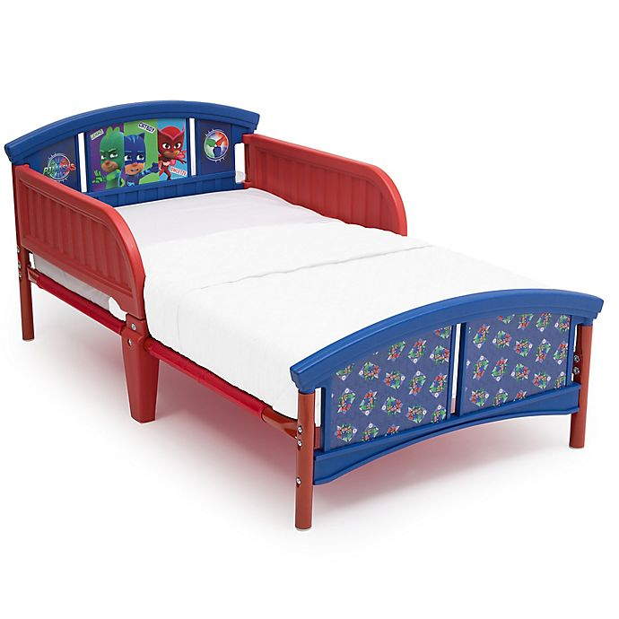 Alternate image 1 for PJ Masks Plastic Toddler Bed in Blue by Delta Children