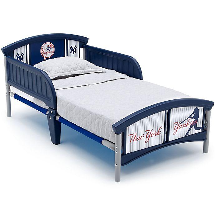 Alternate image 1 for Delta Children MLB New York Yankees Plastic Toddler Bed in Blue
