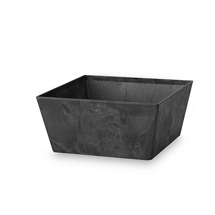 Ella 12 Inch Square Planter In Black Bed Bath And Beyond Canada