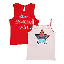 Baby Starters® 2-Pack Star Spangled Bodysuits in Red/White/Blue