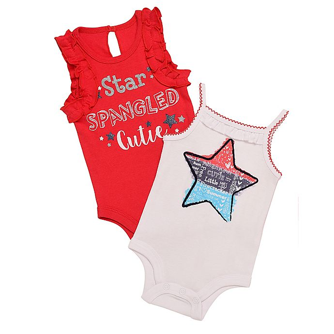3a087cc134 Baby Starters® 2-Pack Star Spangled Bodysuits in Red White Blue ...