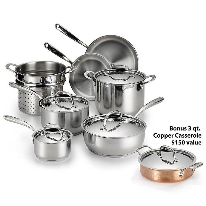 Lagostina luminosa stainless steel 11 piece cookware set - Batterie de cuisine lagostina ...