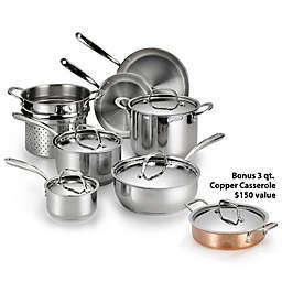 Lagostina Luminosa Stainless Steel 11-Piece Cookware Set