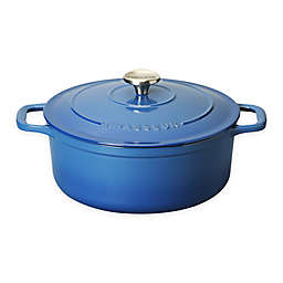 Chasseur® Enameled Cast Iron Round Dutch Oven in Blue