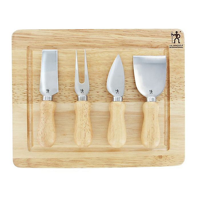 Alternate image 1 for J.A. Henckels International 5-Piece Cheese Knife Set in Silver/Wood