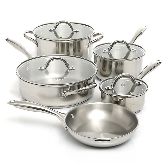Alternate image 1 for Oster® Saunders Stainless Steel 9-Piece Cookware Set