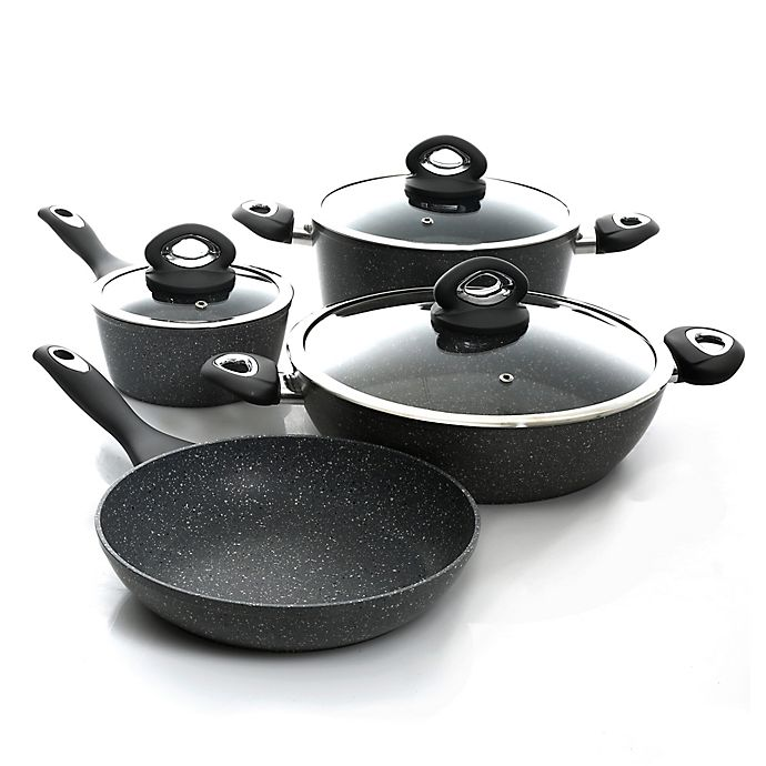 Alternate image 1 for Oster® Caswell Nonstick Aluminum 7-Piece Cookware Set in Marble