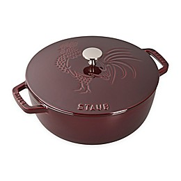 Staub 3.75 qt. Enameled Cast Iron French Oven with Rooster Lid