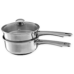 Classic Cuisine Stainless Steel 1.5 qt. Saucepan and 6-Cup Covered Double Boiler