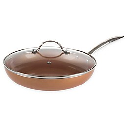Classic Cuisine Allumi-shield Nonstick Covered Frying Pan in Copper