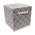 10.5-Inch Foldable Storage Cube in Grey/White Mulberry