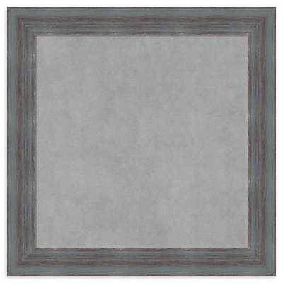 Amanti Art Square Rustic Magnetic Board in Dixie Grey