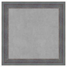 Amanti Art Square Rustic Magnetic Board in Dixie Grey