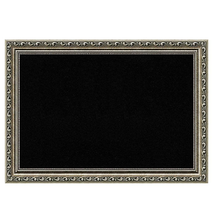 Alternate image 1 for Amanti Art Cork Board with Parisian Silver Frame in Black