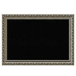Amanti Art Cork Board with Parisian Silver Frame in Black