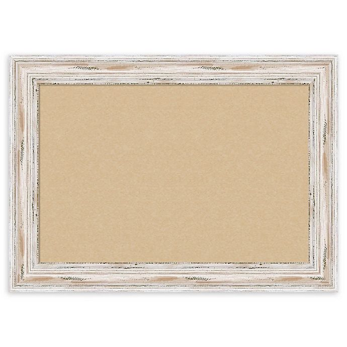 Alternate image 1 for Amanti Art Alexandria Cork Board with Whitewash Frame in Beige
