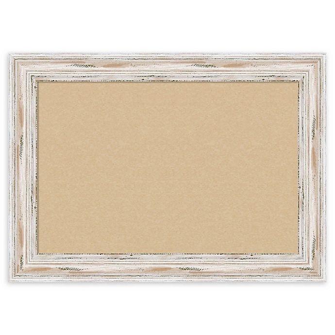 Alternate image 1 for Amanti Art Alexandria Cork Board with Whitewash Frame in Beige