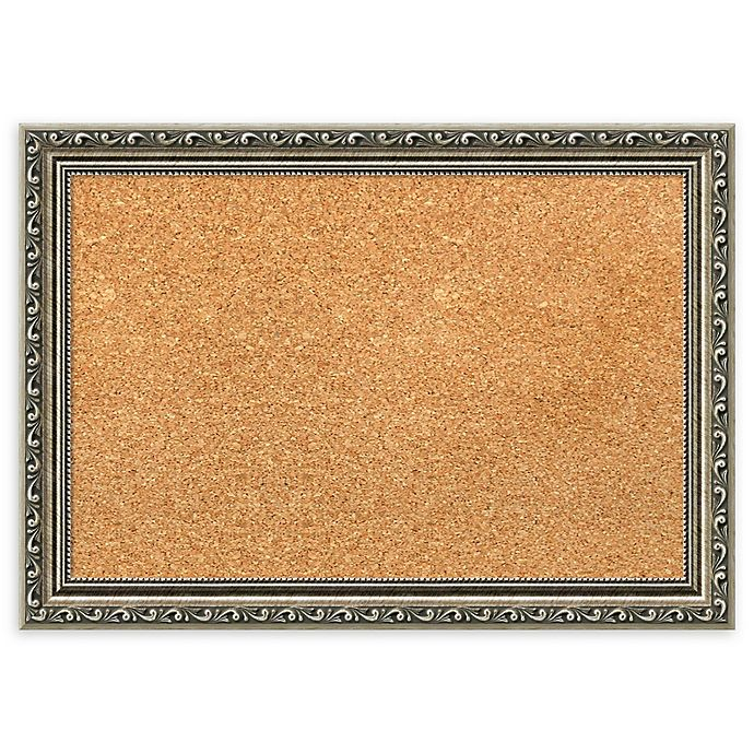 Alternate image 1 for Amanti Art Cork Board with Parisian Silver Frame