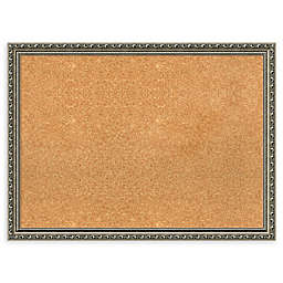 Amanti Art Large Cork Board with Parisian Silver Frame