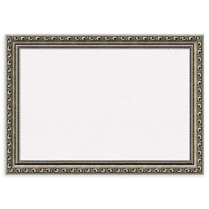 Alternate image 1 for Amanti Art Cork Board with Parisian Silver Frame in White