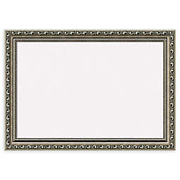Amanti Art Cork Board with Parisian Silver Frame in White