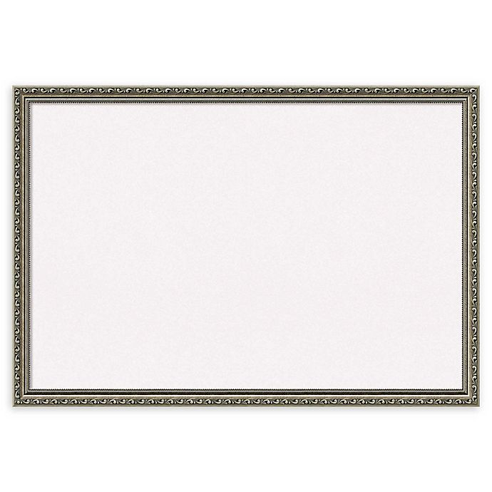 Alternate image 1 for Amanti Art Extra Large Cork Board with Parisian Silver Frame in White