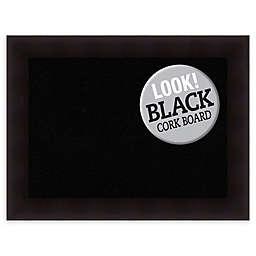 Amanti Art Cork Board with Portico Espresso Frame in Black