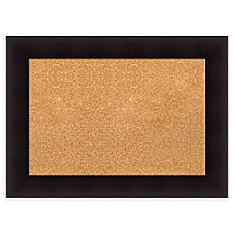 Amanti Art Cork Board with Frame in Portico Espresso
