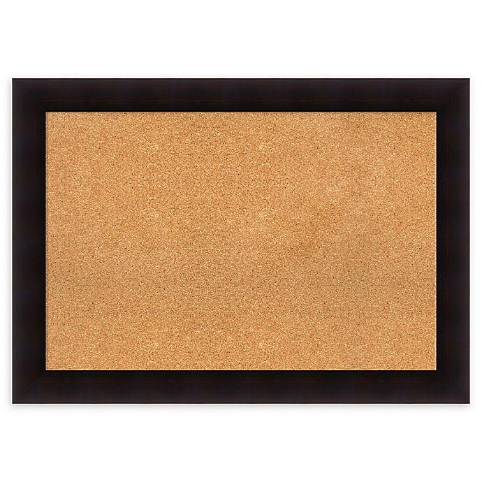 Alternate image 1 for Amanti Art Cork Board with Frame in Portico Espresso