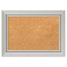 Amanti Art Cork Board with Romano Silver Frame