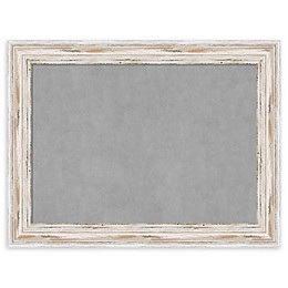Amanti Art Large Magnetic Board with Alexandria Whitewash Frame