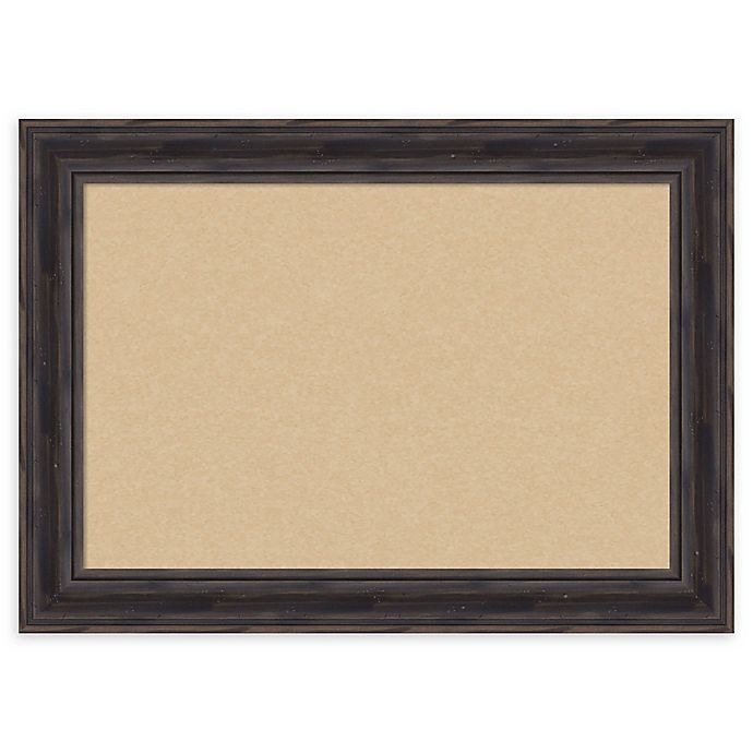 Alternate image 1 for Amanti Art Rustic Narrow Cork Board with Frame in Pine