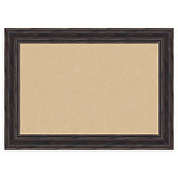 Amanti Art Rustic Narrow Cork Board with Frame in Pine
