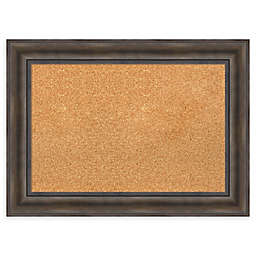 Amanti Art Framed Cork Board in Rustic Pine