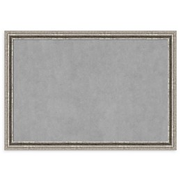 Amanti Art Magnetic Board with Bel Volto Frame in Silver