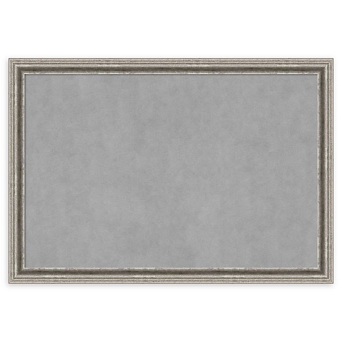 Alternate image 1 for Amanti Art Extra Large Magnetic Board with Bel Volto Frame in Silver