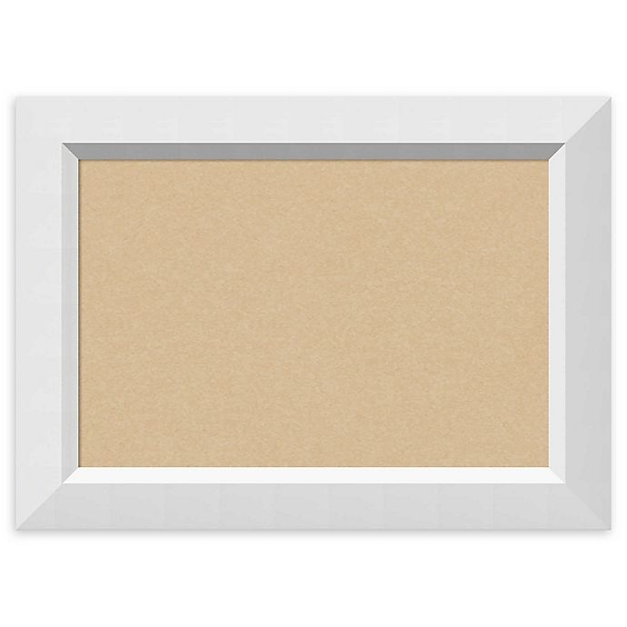 Alternate image 1 for Amanti Art Framed Cork Board in Blanco White