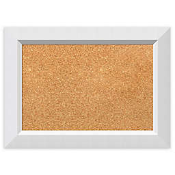 Amanti Art Cork Board with Angled Frame in Blanco White