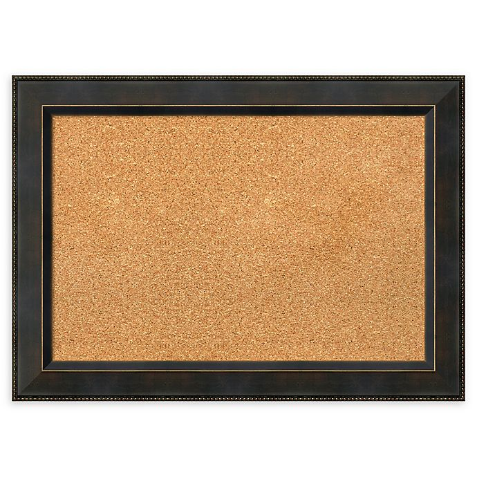Alternate image 1 for Amanti Art Cork Board with Angled Frame in Signore Bronze