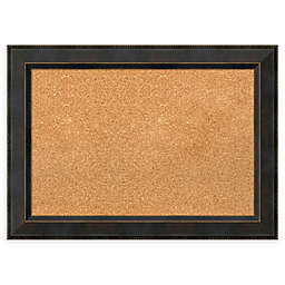 Amanti Art Cork Board with Angled Frame in Signore Bronze