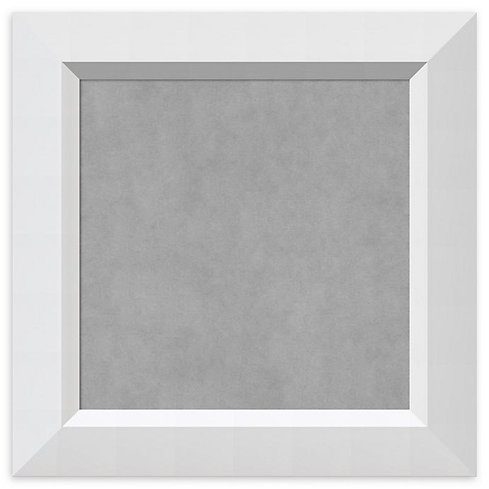 Alternate image 1 for Amanti Art Magnetic Board with Angled Frame in Blanco White